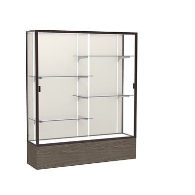 Waddell 72 x 60 Metal & Glass Series Case, Walnut