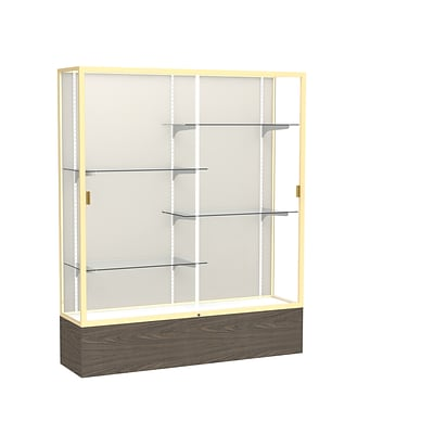 Waddell 72 x 60 Wood, Aluminum & Glass Reliant Series Case, Walnut