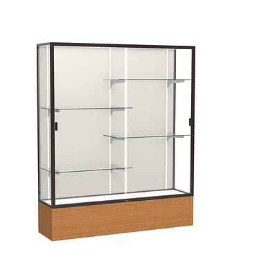 Waddell 72 x 60 Metal & Glass Series Case, Carmel Oak