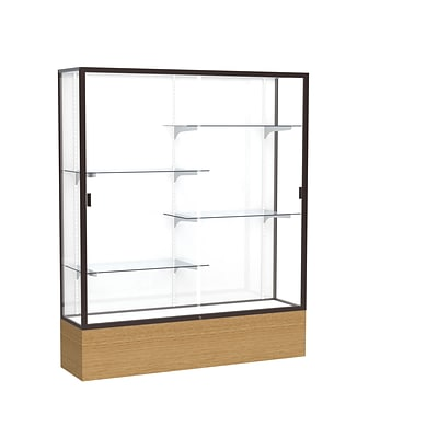 Waddell 72 x 60 Metal & Glass Reliant Series Case, Autumn Oak