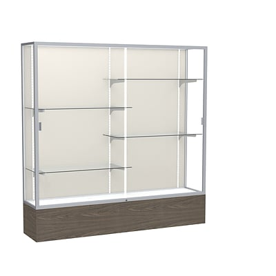 Waddell 72 x 72 Wood, Aluminum & Glass Trophy Display Case, Walnut