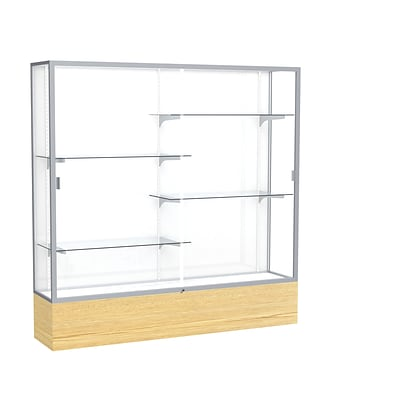 Waddell 72 x 72 Metal & Glass Display Case, Light Oak