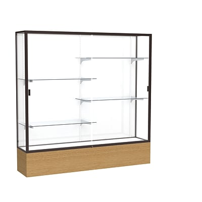 Waddell 72 x 72 Metal & Glass display case Autumn Oak