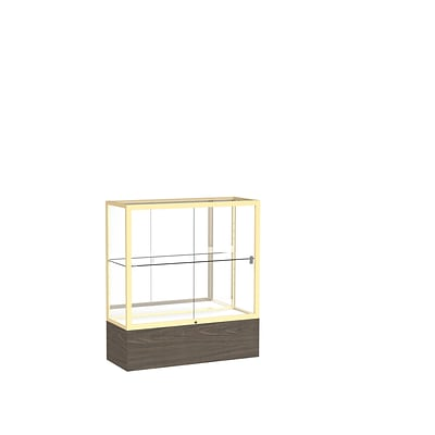 Waddell 40 x 36 Metal & Glass Reliant Series Case, Walnut