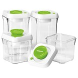 Conair® Cuisinart® 8-pc Food storage containers in green color are refrigerator/freezer/microwave sa