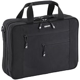 MobileEdge 16 Laptop briefcase in black color is made of all-natural cotton canvas and recycled pla