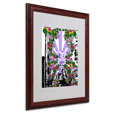 Trademark Miguel Paredes New City 4 Art, White Matte With Wood Frame, 16 x 20