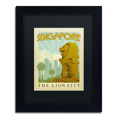 Trademark Anderson Singapore Art, Black Matte With Black Frame, 11 x 14