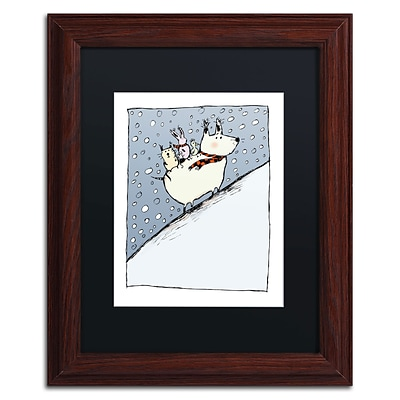 Trademark Carla Martell Kind Dog Art, Black Matte W/Wood Frame, 11 x 14
