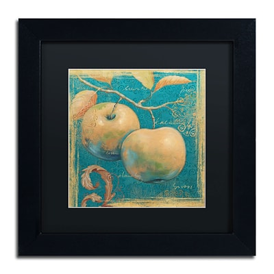 Trademark Daphne Brissonnet Lovely Fruits II Art, Black Matte W/Black Frame, 11 x 11