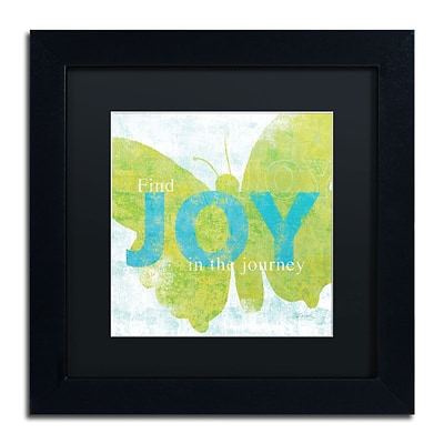 Trademark Sue Schlabach Letterpress Joy Art, Black Matte With Black Frame, 11 x 11