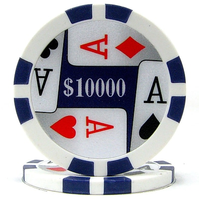Trademark Poker™ 11.5g 4 Aces Premium $10000 Poker Chips, Purple, 50/Set