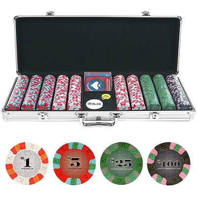 Trademark NexGen 9g Pro Classic Style 500 Chips Poker Set With Aluminum Case (844296044610)