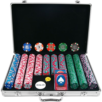 Trademark NexGen™ 9g Pro Classic Style 650 Chips Poker Set With Aluminum Case