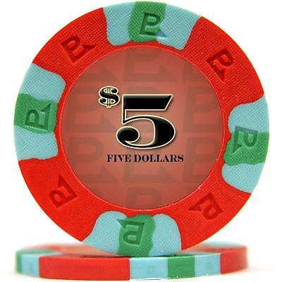 Trademark NexGen™ 9g Pro Classic Style $5 Poker Chips, Red, 50/Set