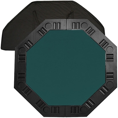 Trademark Poker™ 48 8-Player Octagonal Table Top, Dark Green