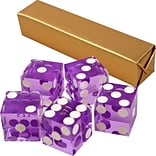 Trademark Poker™ 19 mm A Grade Serialized Casino Dices; Purple, 5/Set