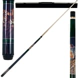 Trademark Games™ 2 Piece Pool Cue Stick With Case; Bengal Tiger
