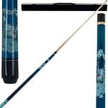 Trademark Games™ 2 Piece Pool Cue Stick With Case; Blue Dragon