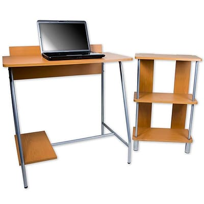 Trademark Orispace Office In A Box Computer Desk/Bookcase Combo, Brown
