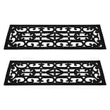 Trademark Pure Garden™ Non-Slip Stair Tread Mats Set; Black