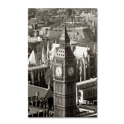Trademark Chris Bliss Big Ben View II Gallery-Wrapped Canvas Art, 12 x 19