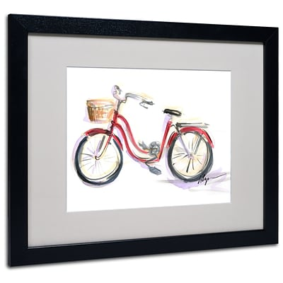 Trademark Jennifer Lilya Go For A Ride Art, White Matte With Black Frame, 16 x 20