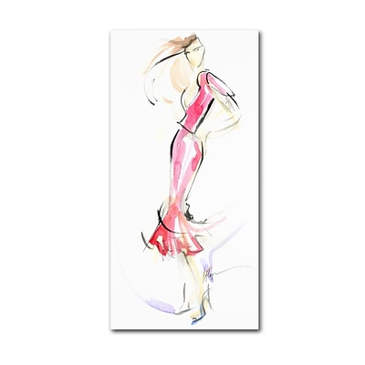 Trademark Jennifer Lilya Just Warming Up Gallery-Wrapped Canvas Art, 24 x 47