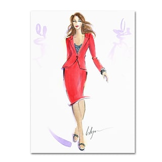 Trademark Jennifer Lilya She Means Business Gallery-Wrapped Canvas Art, 14 x 19