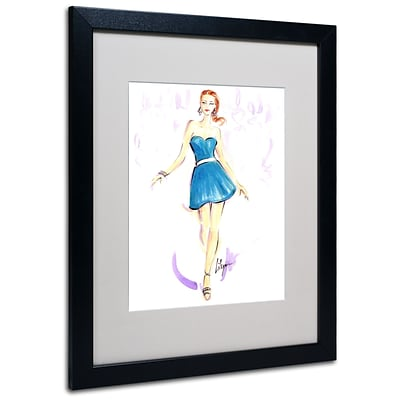 Trademark Jennifer Lilya Squeal For Teal Art, White Matte With Black Frame, 16 x 20