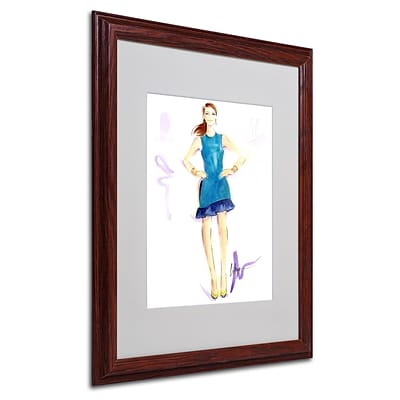 Trademark Jennifer Lilya Tealing Beauty Art, White Matte With Wood Frame, 16 x 20