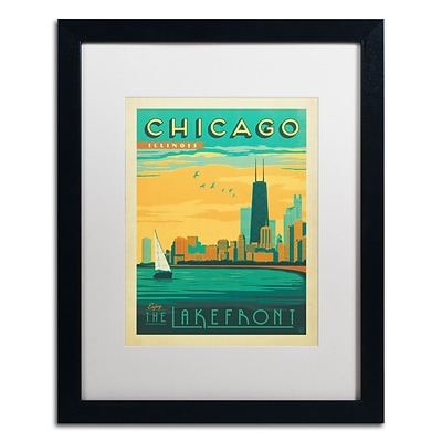Trademark Anderson Chicago II Art, White Matte With Black Frame, 16 x 20
