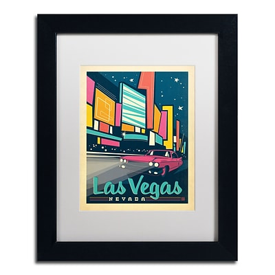 Trademark Anderson Las Vegas, Nevada Art, White Matte With Black Frame, 11 x 14