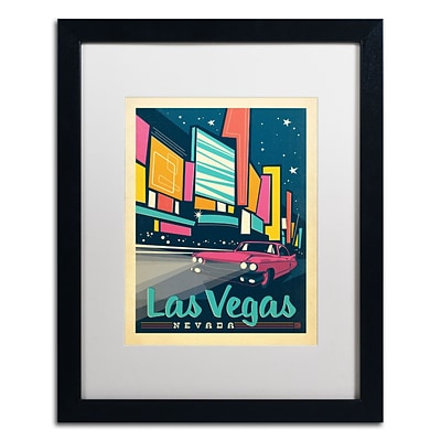 Trademark Anderson Las Vegas, Nevada Art, White Matte With Black Frame, 16 x 20