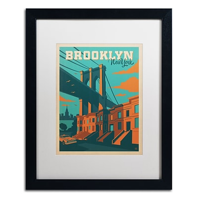 Trademark Anderson Brooklyn Art, White Matte With Black Frame, 16 x 20