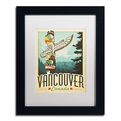 Trademark Anderson Vancouver, Canada Art, White Matte With Black Frame, 11 x 14