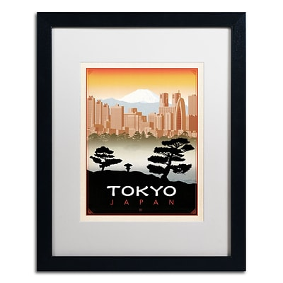 Trademark Anderson Tokyo Art, White Matte With Black Frame, 16 x 20