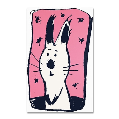 Trademark Carla Martell Earnest Rabbit Gallery-Wrapped Canvas Art, 12 x 19