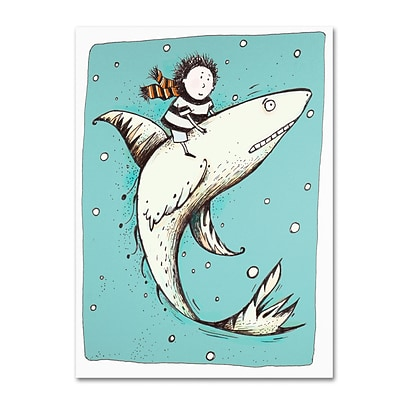 Trademark Carla Martell Fish Boy Gallery-Wrapped Canvas Art, 24 x 32