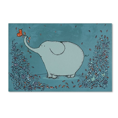Trademark Carla Martell Garden Elephant Gallery-Wrapped Canvas Art, 22 x 32