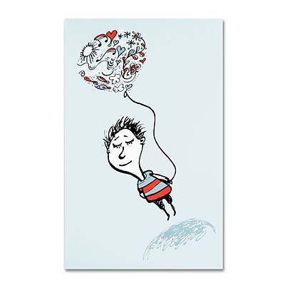 Trademark Carla Martell Love Balloon Gallery-Wrapped Canvas Art, 22 x 32