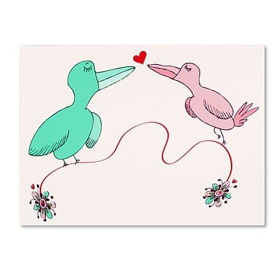 Trademark Carla Martell Love Birds Gallery-Wrapped Canvas Art, 24 x 32