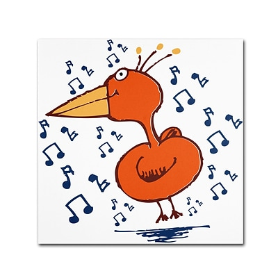 Trademark Carla Martell Music Bird Gallery-Wrapped Canvas Art, 14 x 14