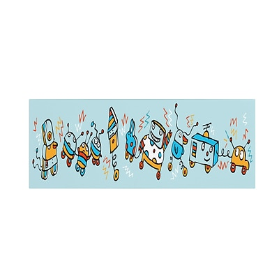 Trademark Carla Martell Rocking Robots Gallery-Wrapped Canvas Art, 16 x 47