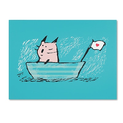 Trademark Carla Martell Sweet Sailor Cat Gallery-Wrapped Canvas Art, 18 x 24
