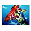 Trademark DawgArt Giraffe Gallery-Wrapped Canvas Art, 14 x 19