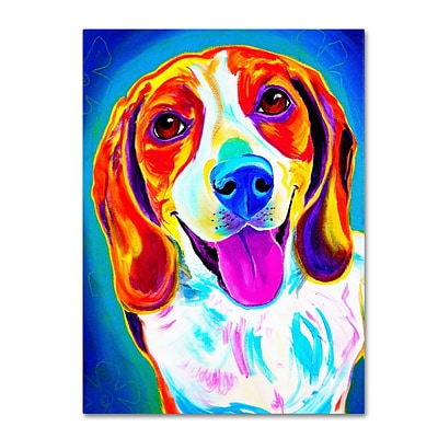 Trademark DawgArt Lucy Gallery-Wrapped Canvas Art, 14 x 19