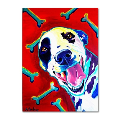 Trademark DawgArt Yum Gallery-Wrapped Canvas Art, 35 x 47