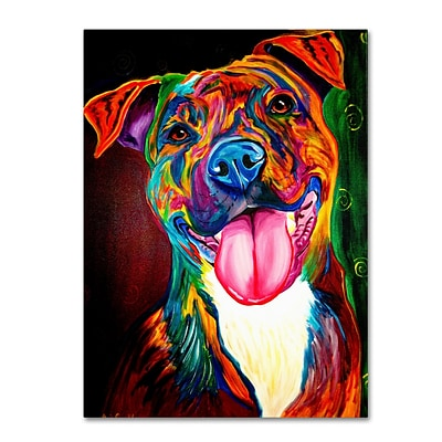 Trademark DawgArt Smile Time Gallery-Wrapped Canvas Art, 18 x 24