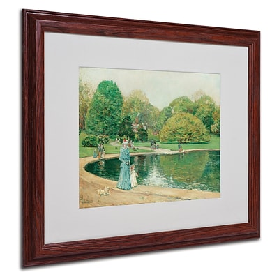 Trademark Childe Hassam Central Park Art, White Matte With Wood Frame, 16 x 20
